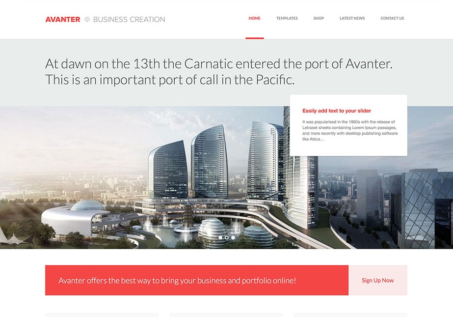Avanter wordpress theme CMGbaltic