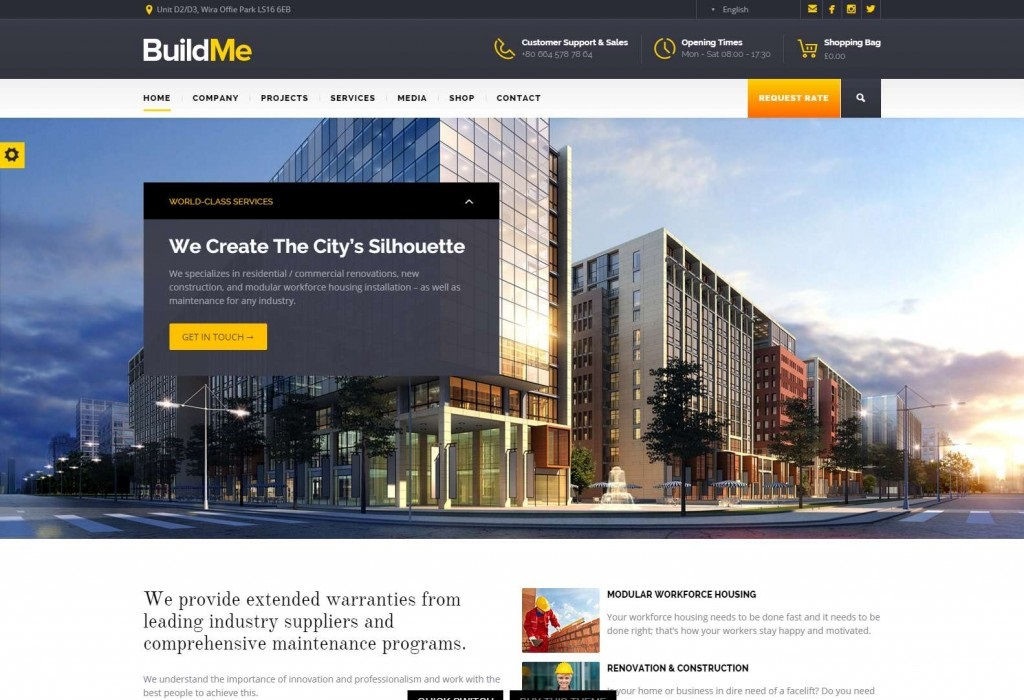 BuildMe wordpress theme CMGbaltic