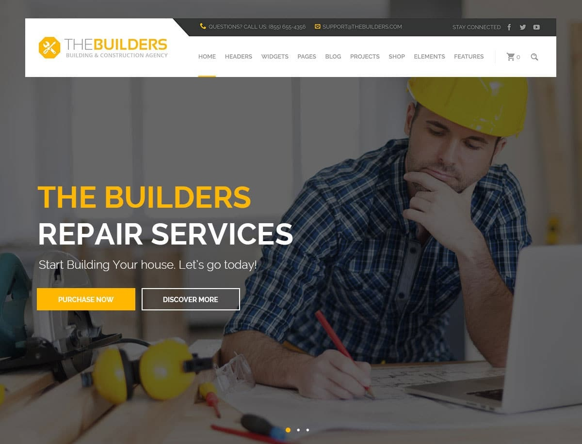 Builders wordpress theme CMGbaltic