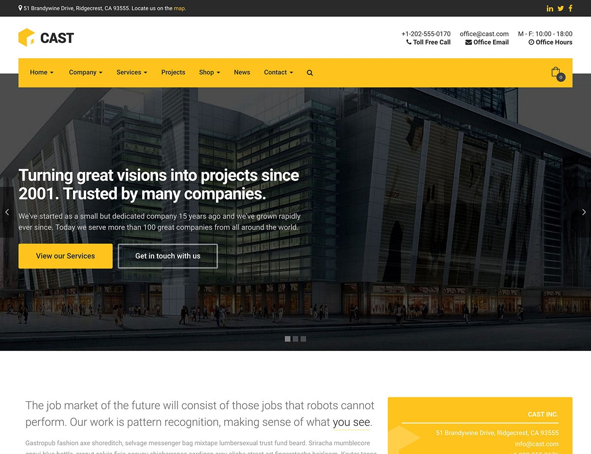 Cast wordpress theme CMGbaltic