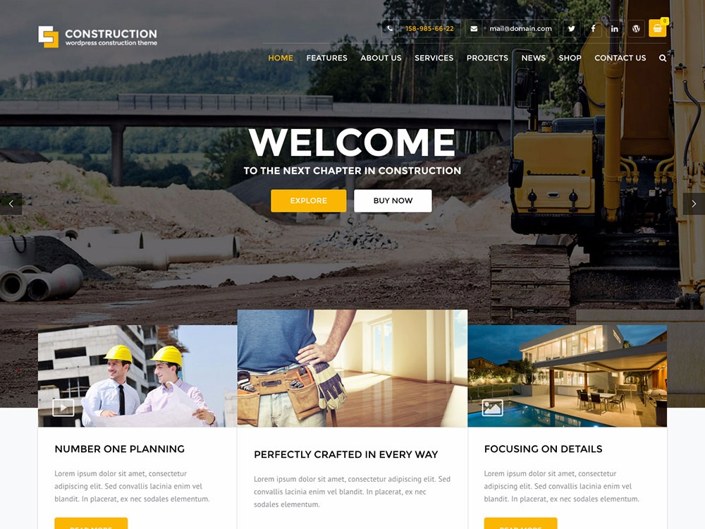 Construction wordpress theme CMGbaltic