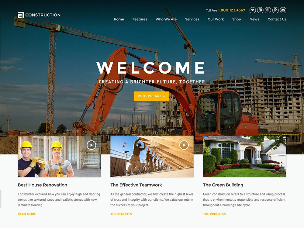 20 Best Construction Company WordPress Themes 2018