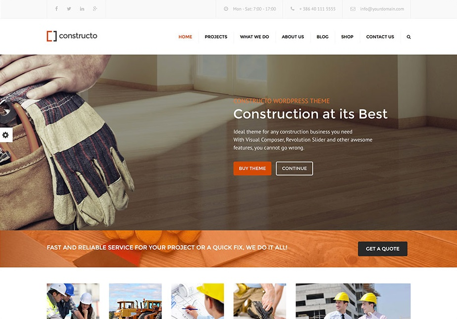 Constructo wordpress theme CMGbaltic