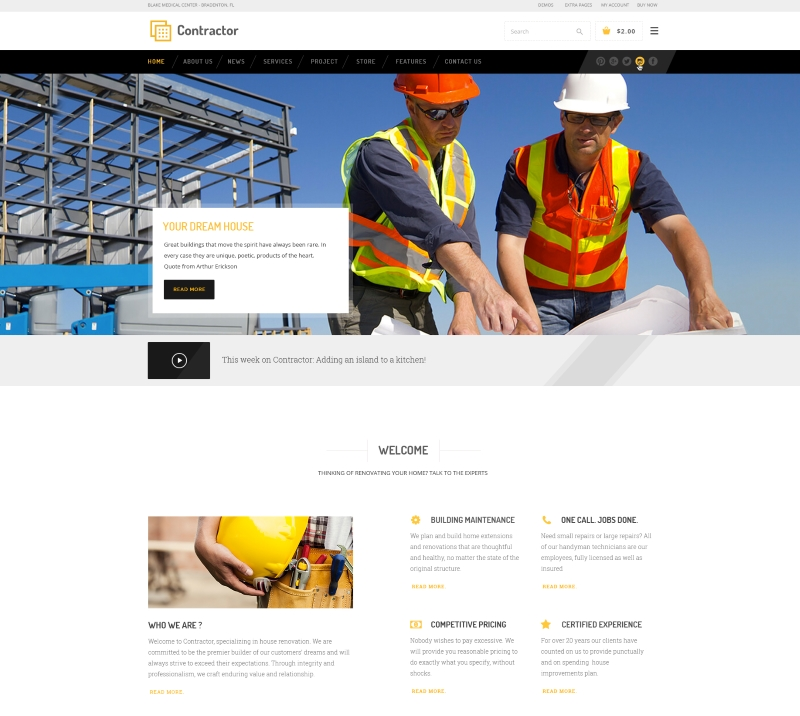 Contractor wordpress theme CMGbaltic KinkKongthemes