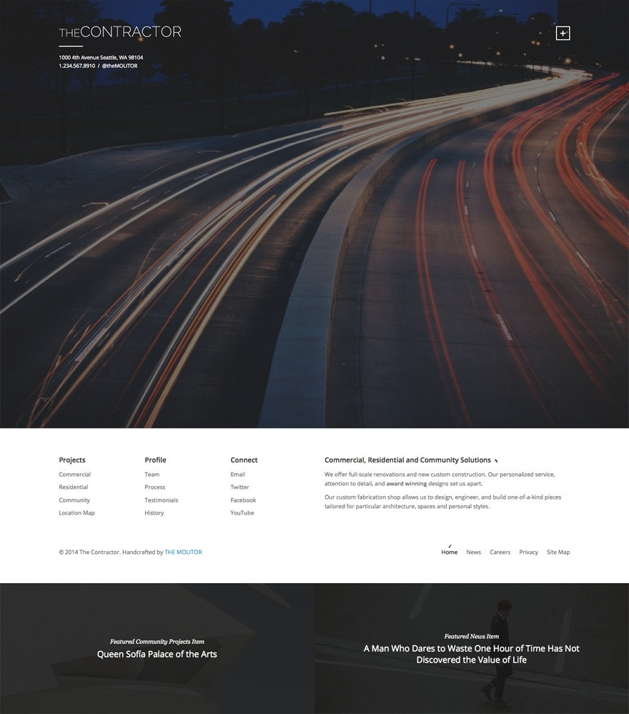 Contractor wordpress theme CMGbaltic