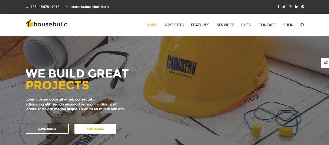 Housbuild wordpress theme CMGbaltic