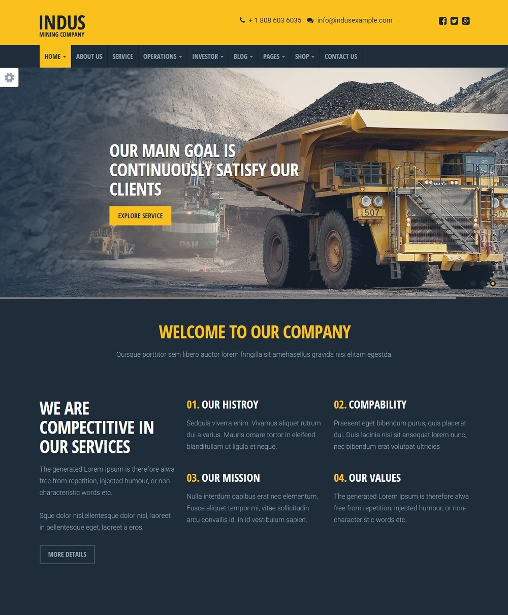 INDUS wordpress theme CMGbaltic