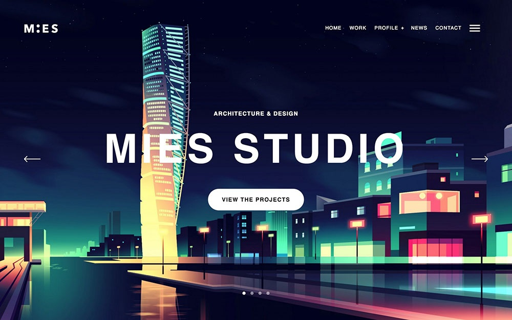 MIES wordpress theme CMGbaltic