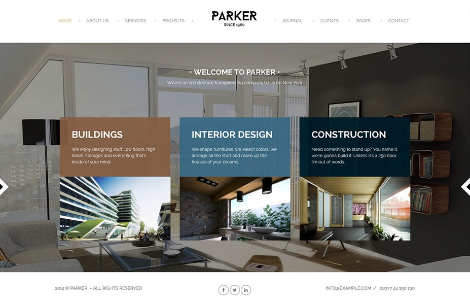 PARKER wordpress theme CMGbaltic