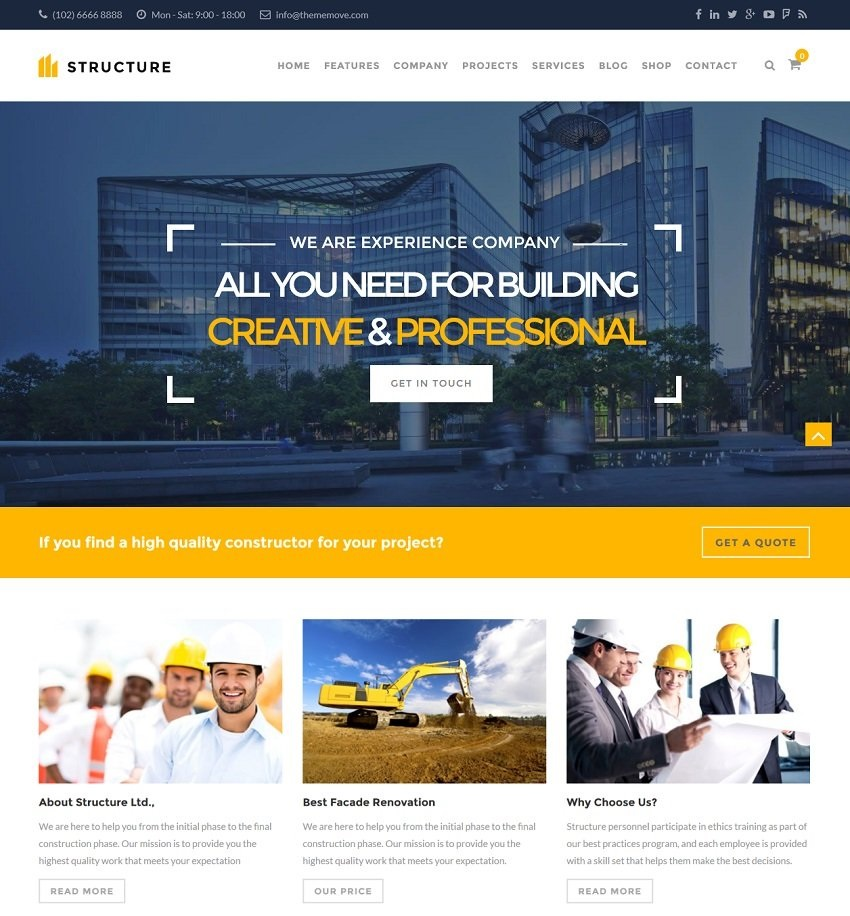 Structure wordpress theme CMGbaltic